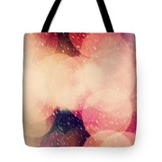 Christmas Snowing Blizzard Bokeh Background Tote Bag