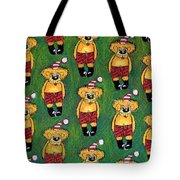 Christmas Teddies Tote Bag