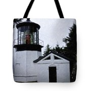 Christmas Time At Cape Meares Lighthouse Tote Bag