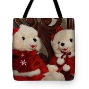 Christmas Time Bears Tote Bag