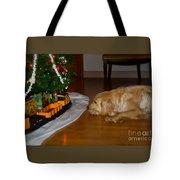 Christmas Train Tote Bag