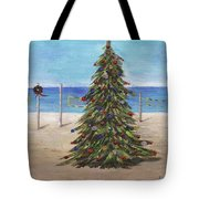 Christmas Tree At The Beach Tote Bag