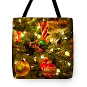 Christmas Tree Background Tote Bag