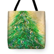 Christmas Tree Gold By Jrr Tote Bag