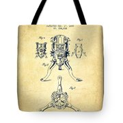 Christmas Tree Holder Patent From 1880 - Vintage Tote Bag