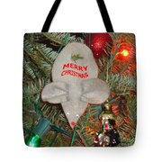 Christmas Tree Mouse Tote Bag