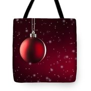 Christmas Tree Ornament Tote Bag