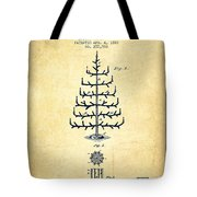 Christmas Tree Patent From 1882 - Vintage Tote Bag