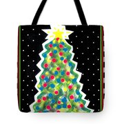 Christmas Tree Polkadots Tote Bag by Genevieve Esson