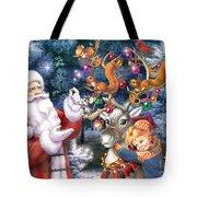 Christmas Tree-rudolph Tote Bag