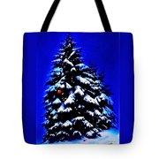 Christmas Tree With Red Ball Tote Bag