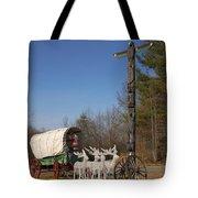 Christmas Wagon Tote Bag