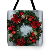 Christmas Wreath Greeting Card Photograph By Barbara Griffin