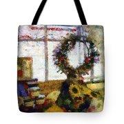 Christmastime Folk Art Fantasia Tote Bag