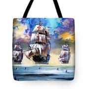 Christopher Columbus's Fleet  Tote Bag