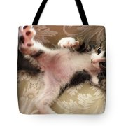 Christopher Paws Up Tote Bag