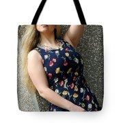 Christy Blue Minidress-40-2 Tote Bag