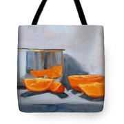 Chrome And Oranges Tote Bag