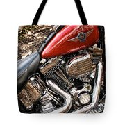 Chrome And Red Tote Bag