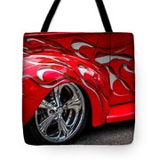 Chrome Red Tote Bag