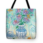 Chrysanthemum Study With Chinese Symbols  Tote Bag