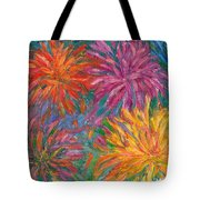 Chrysanthemums Like Fireworks Tote Bag
