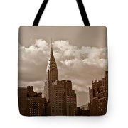 Chrysler Building And The New York City Skyline Tote Bag