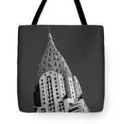 Chrysler Building Bw Tote Bag