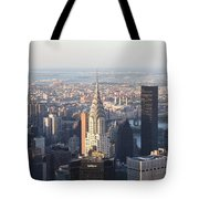 Chrysler Building From The Empire State Building Tote Bag