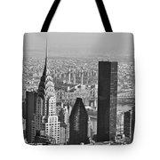 Chrysler Building New York Black And White Tote Bag