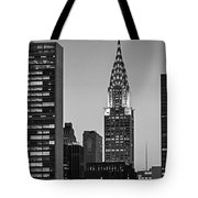 Chrysler Building New York City Bw Tote Bag