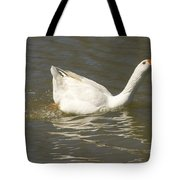 Chuck The Duck Looking At You Tote Bag
