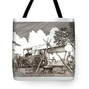 Chuckwagon Cattle Drive Breakfast Tote Bag