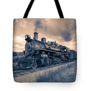 Full Steam Through The Meadow Tote Bag