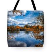 Church Across The River Tote Bag by Bob Orsillo
