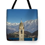 Church And Alps Tote Bag