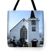 Paramus Nj - Church And Steeplechurch And Steeple Tote Bag