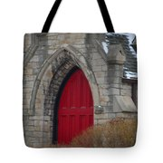 Church And The Red Door Tote Bag