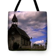Church At The Okeefe Ranch Tote Bag