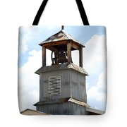 Church Bell Tower In Truchas In New Mexico Tote Bag