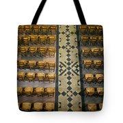 Church Chairs Tote Bag