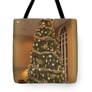 Church Christmas Tree Tote Bag