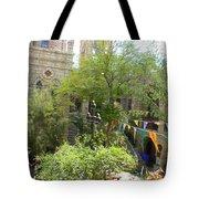 Church Courtyard Tote Bag