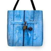 Church Door Blues Tote Bag