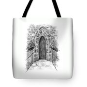 English Church Door Tote Bag