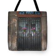 Church Doors And Flowers Tote Bag