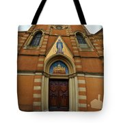 Church Entrance. Palazzolo Tote Bag