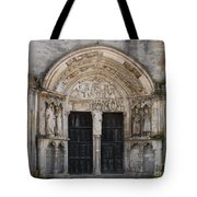 Church Entrance - St  Thibault Tote Bag