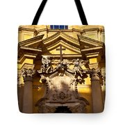 Church Facade Tote Bag