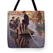 Church-goers In A Boat Tote Bag